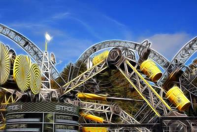 Jab Digital Art - Alton Towers Smiler Roller Coaster Ride by Doc Braham