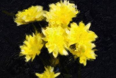 Yellow Flowers Original by Toppart Sweden