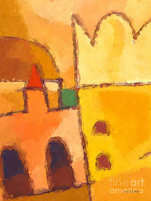 African Art Painting - Yellow Impression by Lutz Baar