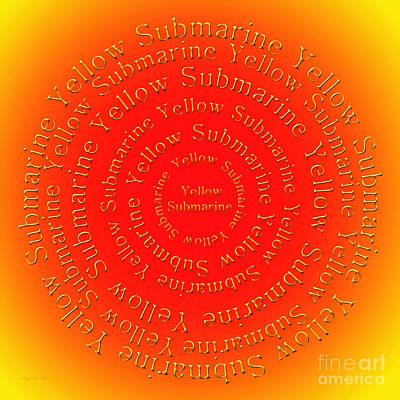 John Lennon Digital Art - Yellow Submarine 3 by Andee Design