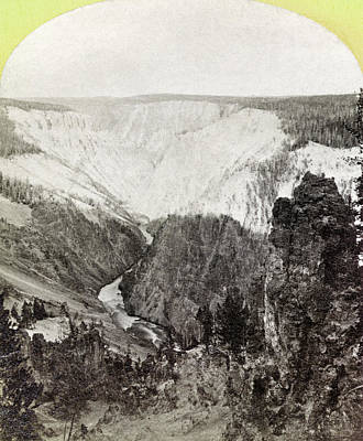 Grand View Of Nature Painting - Yellowstone Canyon, 1871 by Granger