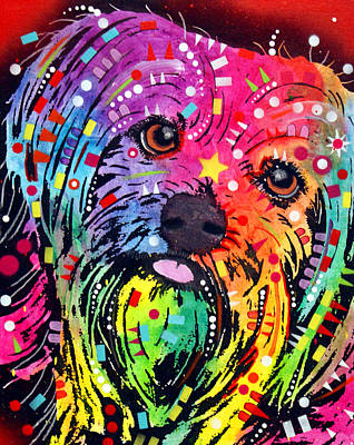 Painting - Yorkie by Dean Russo