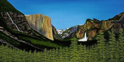 El Capitan Painting - Yosemite by Clinton Cheatham