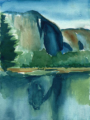 Yosemite Painting - Yosemite National Park by Frank Bright