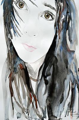Young Girl Print by Ismeta Gruenwald