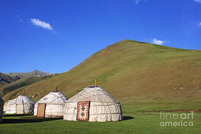 Yurts Photograph - Yurts In The Tash Rabat Valley Of Kyrgyzstan  by Robert Preston