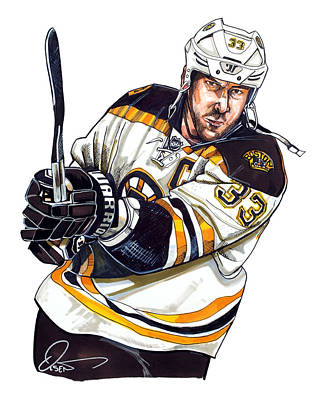 Hockey Drawing - Zdeno Chara by Dave Olsen