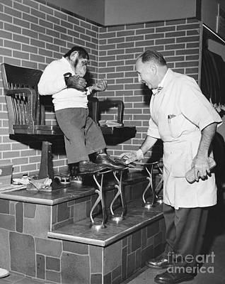 Men Shoe Photograph - Zippy The Chimp by Dick Hanley