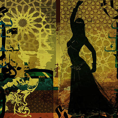 Abstract Belly Dancer 4 Print by Corporate Art Task Force