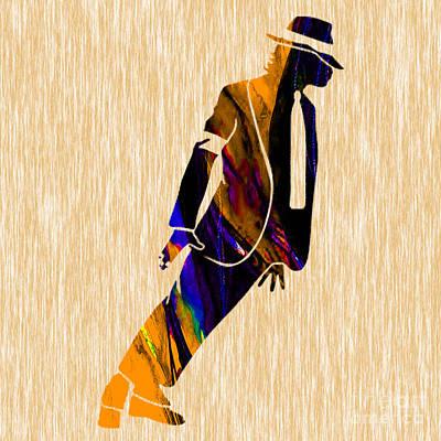 King Mixed Media - Michael Jackson  by Marvin Blaine