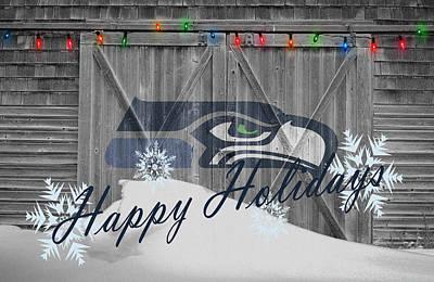 Present Photograph - Seattle Seahawks by Joe Hamilton