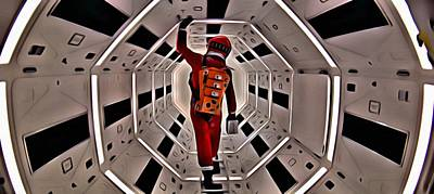 Hal Painting - 2001 A Space Odyssey by Florian Rodarte