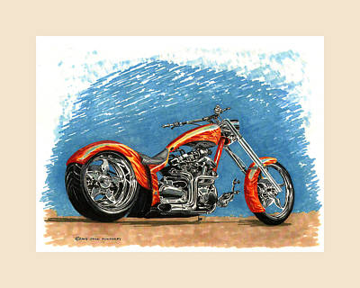 Dirt Roads Drawing - 2005 Yamaha Super Production Roadstar by Jack Pumphrey