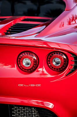 2006 Photograph - 2006 Lotus Elise Taillight Emblem-0064c by Jill Reger