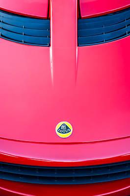 2006 Photograph - 2006 Lotus Grille Emblem -0006c by Jill Reger