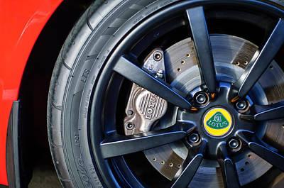 2006 Photograph - 2006 Lotus Wheel Emblem -0027c by Jill Reger