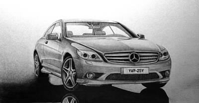 2009 Mercedes Cl550 Print by Gary Reising