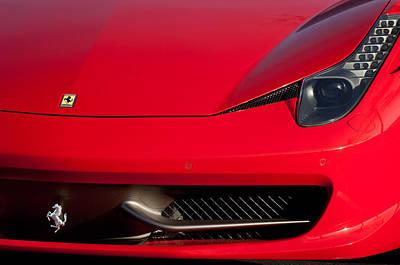 2010 Photograph - 2010 Ferrari Grille Emblem -0468c by Jill Reger