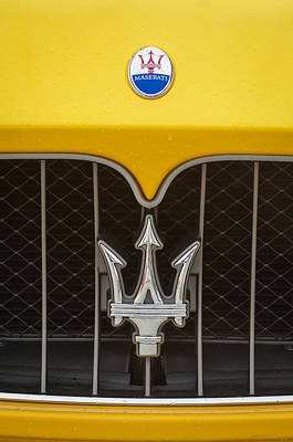 2010 Photograph - 2010 Maserati Grille Emblem -0556c by Jill Reger