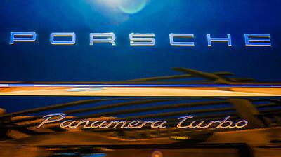 2010 Photograph - 2010 Porsche Panamera Turbo Emblem -720c by Jill Reger
