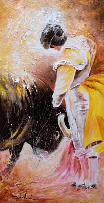 Spanish Matador Painting - 2010 Toro Acrylics 03 by Miki De Goodaboom