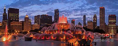 2013 Chicago Blackhawks Skyline Print by Jeff Lewis