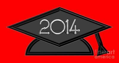Tassel Digital Art - 2014 Black And Silver Graduation Cap by Rose Santuci-Sofranko