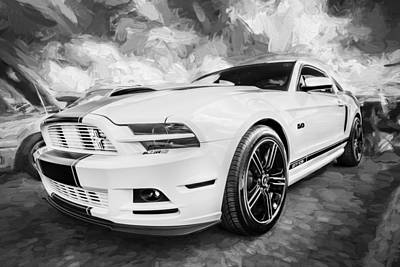 Special Edition Photograph - 2014 Ford Mustang Gt Cs Painted Bw    by Rich Franco