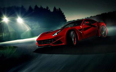 2014 Novitec Rosso Ferrari F12 Berlinetta N Largo Print by Movie Poster Prints