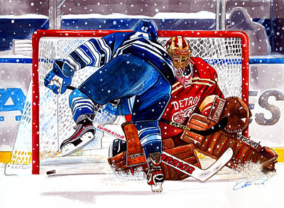 Hockey Drawing - 2014 Winter Classic by Dave Olsen