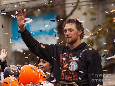 2014 World Series Champions San Francisco Giants Dynasty Parade Hunter Pence 5d29764 Print by Wingsdomain Art and Photography