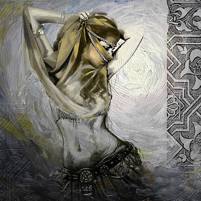 Dance Painting - Abstract Belly Dancer 3a by Corporate Art Task Force