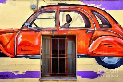 Craft Painting - Graffiti On A Wall by George Atsametakis