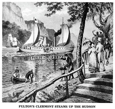 Beaver Drawing - Robert Fulton's Clermont by Granger