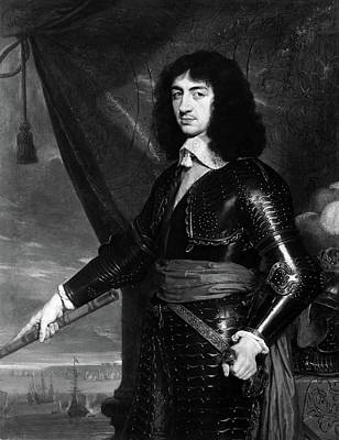 Breastplate Painting - Charles II (1630-1685) by Granger