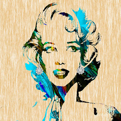 Marilyn Monroe Diamond Earring Collection Print by Marvin Blaine