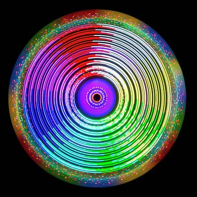 Psychedelic Photograph - Multicoloured Light Trails by Lawrence Lawry