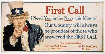 Uncle Sam Painting - World War I U by Granger