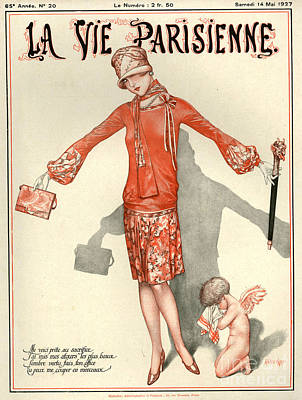 Crying Drawing - 1920s France La Vie Parisienne Magazine by The Advertising Archives
