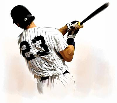 Sports Drawing - 23   Don Mattingly  by Iconic Images Art Gallery David Pucciarelli