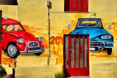 Athens Painting - Graffiti On A Wall by George Atsametakis