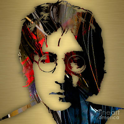 John Lennon Collection Print by Marvin Blaine