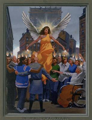 Pentecost Painting - 23. The Holy Spirit Arrives / From The Passion Of Christ - A Gay Vision by Douglas Blanchard