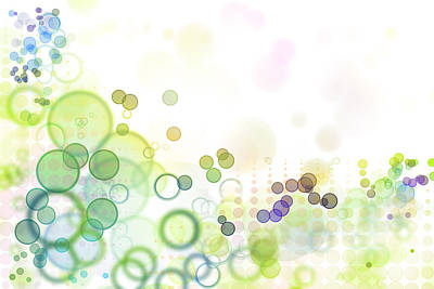 Circles Digital Art - Abstract Background by Les Cunliffe