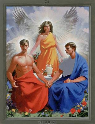 Lgbtq Painting - 24. The Trinity / From The Passion Of Christ - A Gay Vision by Douglas Blanchard