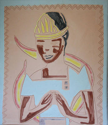African Contemporary Ceramics Painting - The Wise Virgin by Gloria Ssali