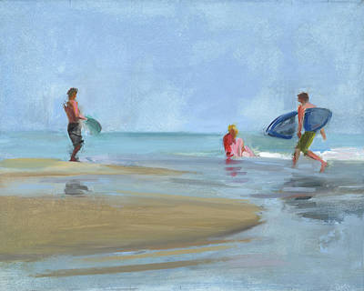 Surf Painting - Rcnpaintings.com by Chris N Rohrbach