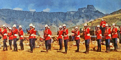 Bayonet Digital Art - 24th Regiment Of Foot - En Garde by Digital Photographic Arts