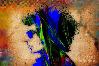 Bob Mixed Media - Bob Dylan by Marvin Blaine