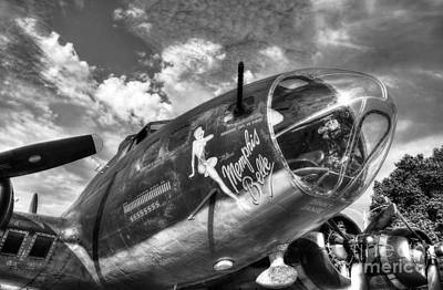 Nose Art Photograph - 25 Missions Bw by Mel Steinhauer